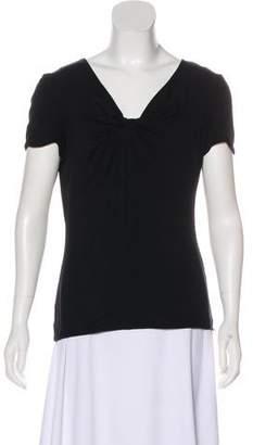 Armani Collezioni Knit V-Neck Top