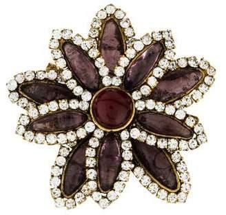Chanel Gripoix Flower Brooch