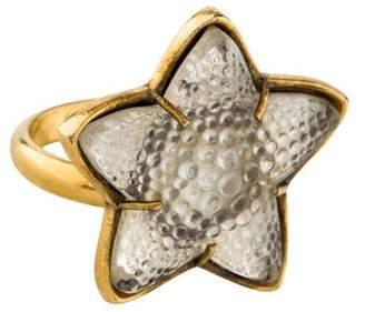 Lalique Starfish Crystal Ring