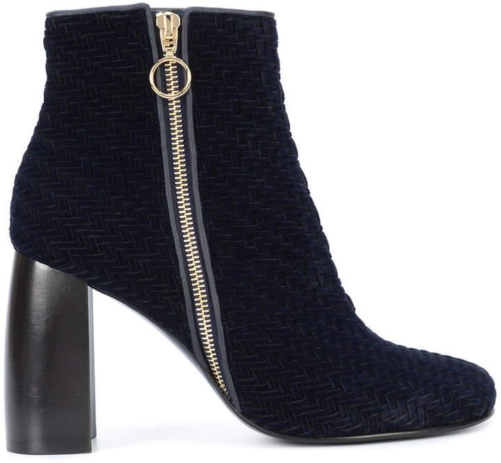 Stella McCartney zip up woven boots