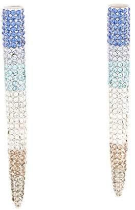 Eddie Borgo Long Pavé Crystal Spike Earrings