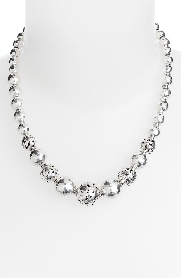 Lois Hill 'Ball & Chain' Graduated Hammered Bead Necklace
