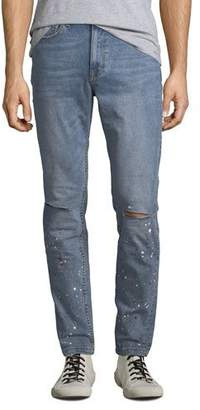 Ovadia & Sons Men's Slim-Leg Paint-Splattered Jeans