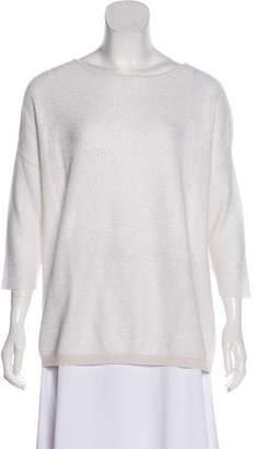 Fabiana Filippi Metallic Scoop Neck Sweater