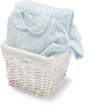 Ralph Lauren Aran-Knit 2-Piece Gift Basket
