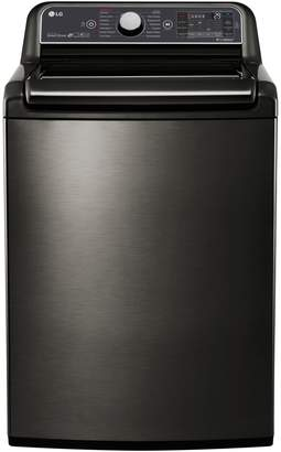 LG Electronics WT7600HKA - 6.0 CU. FT. High Efficiency Top Load Steam Washer with TurboWash 2.0 Technology Black Stainless Steel