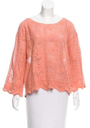 Giada Forte Pointelle Knit Top w/ Tags