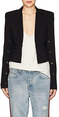 Robert Rodriguez Women's Button-Sleeve Crepe Crob Blazer