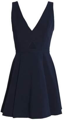 Alice + Olivia Nina Cutout Crepe Mini Dress