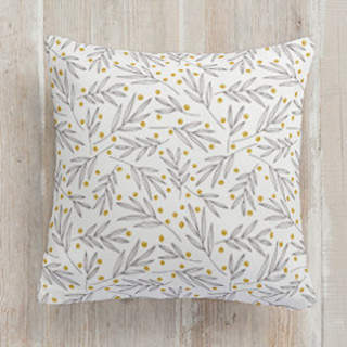 Leafy Berries Square Pillow