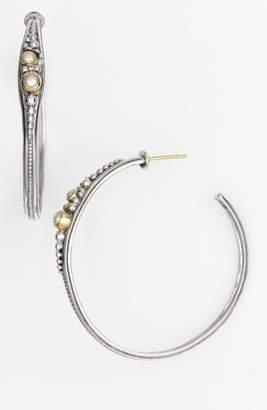 Konstantino 'Classics' Pearl Hoop Earrings