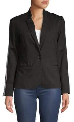 Supply & Demand Stripe Sleeve Blazer