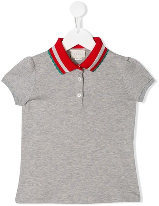 Gucci Kids contrast collar polo shirt