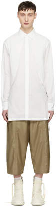 D.gnak By Kang.d White Long Panel Shirt