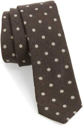 Eleventy Dot Wool Skinny Tie
