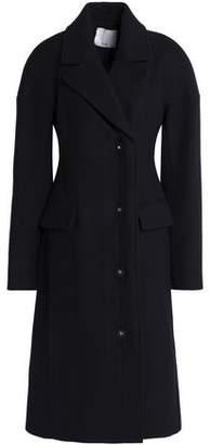 Tibi Double-Breasted Wool-Blend Felt Coat