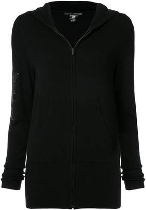 Thomas Wylde sequin Union Jack detail zipped hoodie