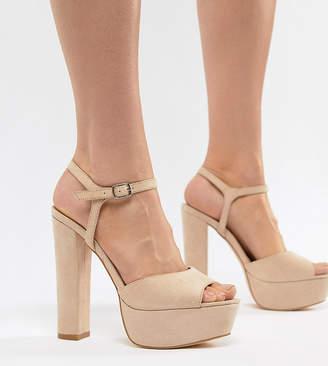 8c249dde65e Beige Platform Heel Women s Sandals - ShopStyle