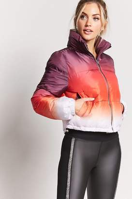 Forever 21 Active Ombre Puffer Jacket