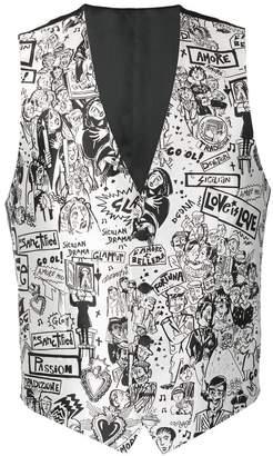 Dolce & Gabbana Cartoon print waistcoat