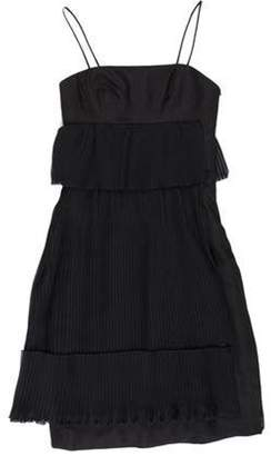 Akris Asymmetrical Pleated Dress Black Asymmetrical Pleated Dress