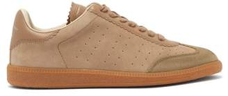 Isabel Marant Brycy Lace Up Suede Trainers - Mens - Grey