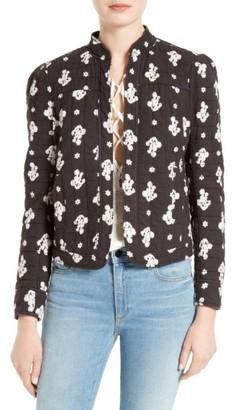 Women's La Vie Rebecca Taylor Blanche Fleur Quilted Cotton Jacket $350 thestylecure.com