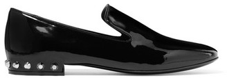 Balenciaga - Studded Patent-leather Loafers - Black $595 thestylecure.com