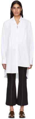 Loewe White Poplin Asymmetric Shirt