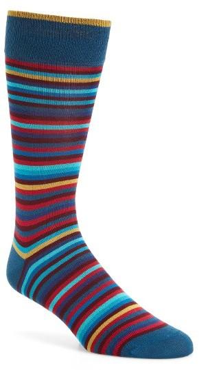 Men's Bugatchi Multicolor Stripe Socks