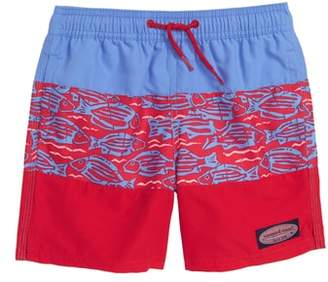 Vineyard Vines Pieced Island Batik Chappy Swim Trunks