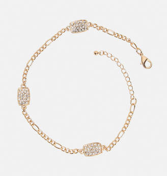 Avenue Pave Rectangle Ankle Bracelet