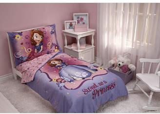 Disney Sofia the First Sweet as a Princess 4 Piece Toddler Bed Set Bedding