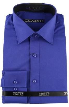 Luxton Men's Modern Slim Fit Button Down Dress Shirt