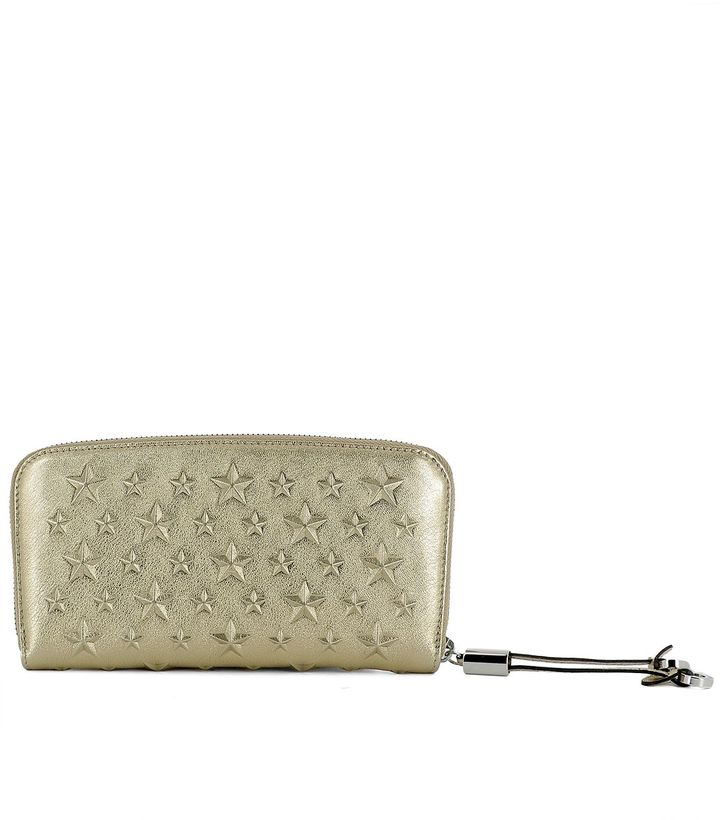 Jimmy Choo Gold Leather Wallet