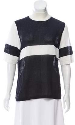 Gianfranco Ferre Striped Short Sleeve Sweater