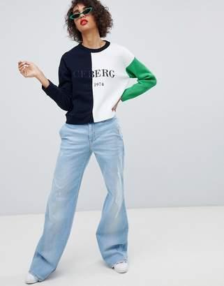 Iceberg Oversized Flare Jeans