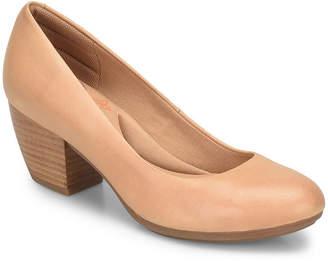 Comfortiva Womens Amora Pumps Closed Toe Stacked Heel
