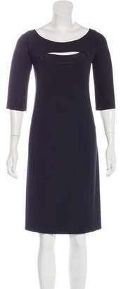 Narciso Rodriguez Three-Quarter Sleeve Sheath Dress