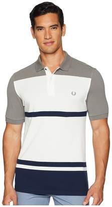 Fred Perry Multi Stripe Pique Shirt Men's Clothing