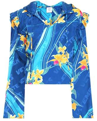 Vetements Floral-printed silk top