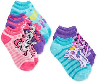 My Little Pony No-Show Ankle Socks, 5-Pack, Little Girls