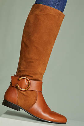 Anthropologie Kiwi Round Buckle Riding Boots
