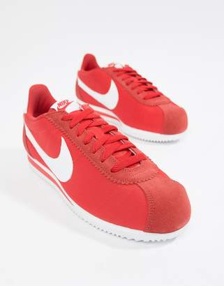 Nike Classic Cortez Nylon Sneakers In Red 807472-604