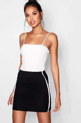 boohoo Maya Double Stripe Mini Skirt