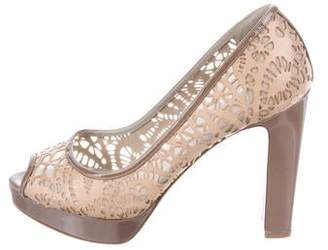 Valentino Laser Cut Leather Pumps