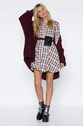 Nasty Gal Plaid About You Mini Dress