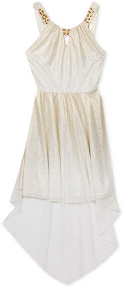 Rare Editions Big Girls Embellished-Neck Party Dress