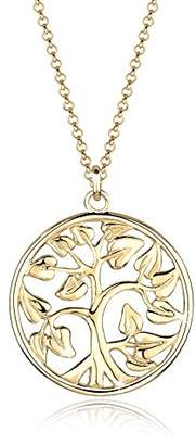Goldhimmel Women's 925 Sterling Silver Xilion Cut Tree of Life Filigree Lucky Charm Coin Pendant Necklace Length of 70 cm