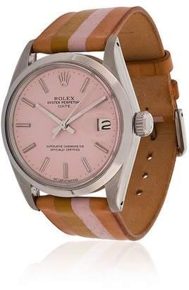 Rolex La Californienne pink, orange and brown honey 34 mm watch